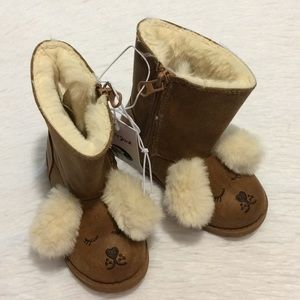 Cat & Jack Girls Sz 7 Brown Winter Boots Readawn